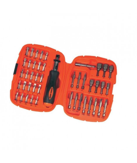 BLACK & DECKER Ensemble pour vissage 45 pieces