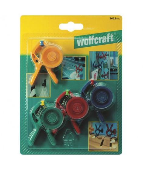 WOLFCRAFT - 4 Pinces microfix S ventouse