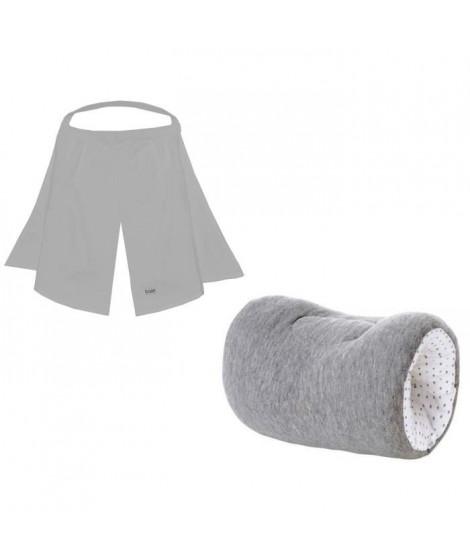 CANDIDE Brassard en jersey étoile- gris chiné et voile d'allaitement gris