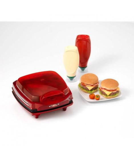 ARIETE 185 Appareil a Burger - 1400W - Rouge