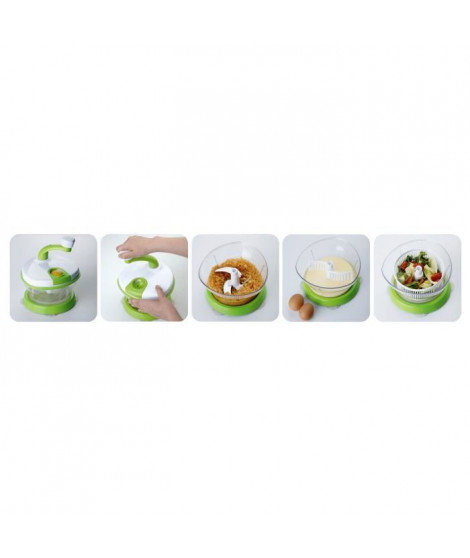 YOKO DESIGN Top mix multifonction transparent et vert