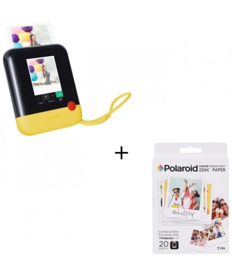 """POLAROID POLPOP1Y Appareil photo numérique instantané - Jaune + Papier photo 3""""x4"""" pour appareil photo Polaroid POP"""