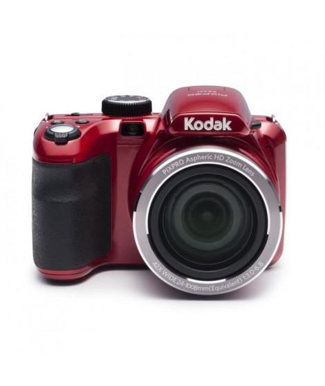 """KODAK AZ421 Appareil photo numérique - Zoom optique 42x - Grand angle 24 mm - Ecran 3"""" LCD - 16 MP - Rouge"""