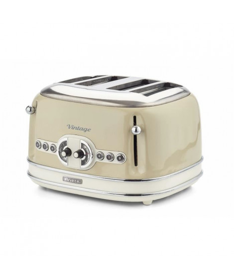 ARIETE 156/1 Grille pain vintage - 4 fentes - Beige