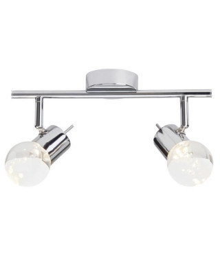 BRILLIANT Plafonnier a 2 lumieres Lastra - Chrome