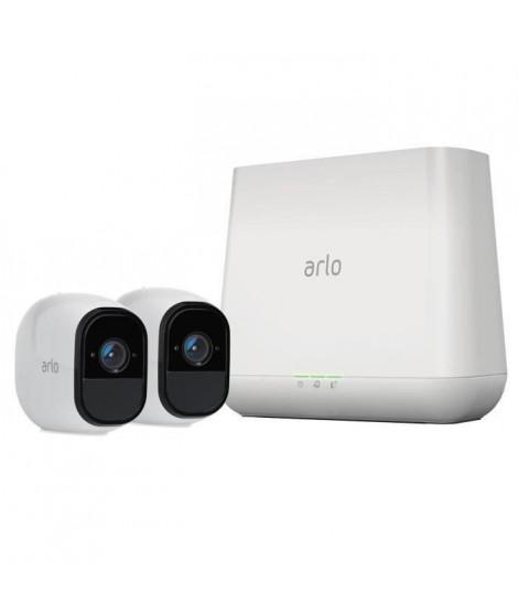 Arlo Pro Pack de 2 Caméras, Smart caméra HD grand angle avec batterie rechargeable Intérieure/extérieure alarme intégrée