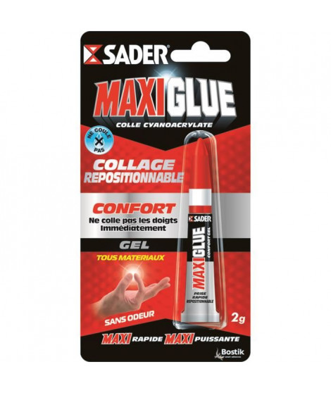 SADER Maxiglue Colle Instantanée Cyano Confort  Tous Usages - 3g