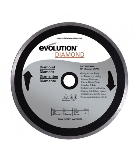EVOLUTION Disque diamant FURY 255mm