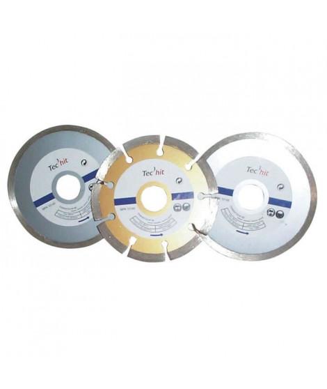 TEC HIT Jeu de 3 disques diamant diametre 110 mm - Sciage tous matériaux
