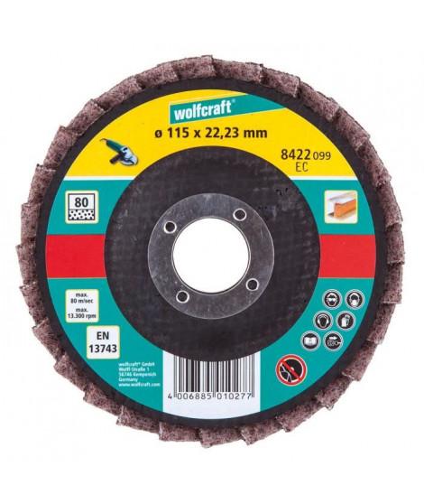 WOLFCRAFT Disque lamelle fibre meule - G80 - Diametre: 115 mm