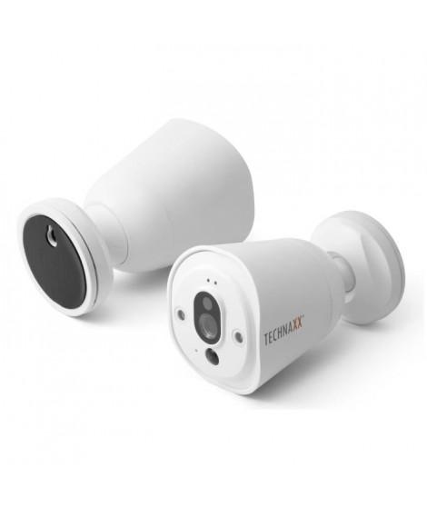 TECHNAXX Caméra de surveillance IP connectée sans fil HD TX-55 blanc