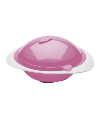 THERMOBABY Bol Micro-Ondes 250ml avec Couvercle Rose Orchidée