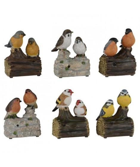 Oiseaux siffleurs sur branche - Couleurs assorties