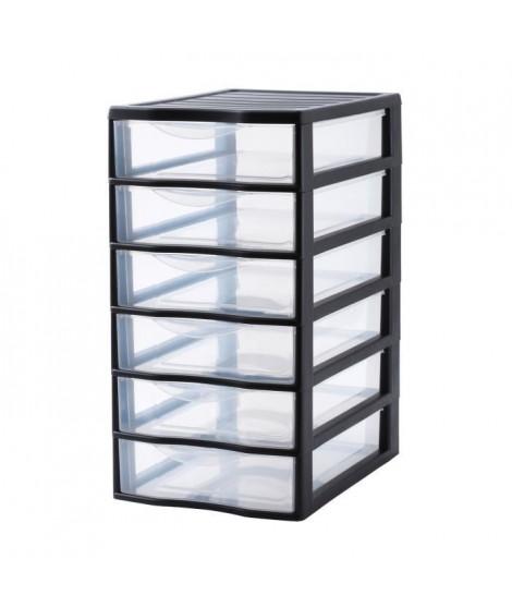 SUNDIS Tour de rangement Orgamix avec 6 tiroirs format A4 noir