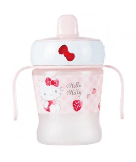 TIGEX Tasse Anti-fuite Embout Bec Dur 250 ml avec Poignées Hello Kitty