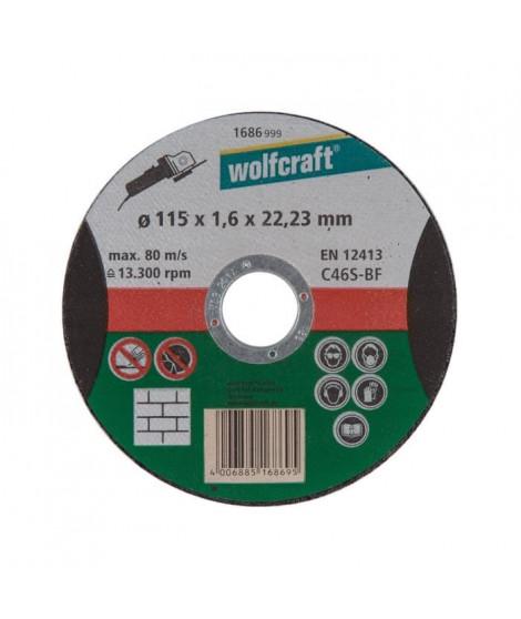 WOLFCRAFT 1 Disque a tronçonner pierre fin - Ø 115 x 1.6 mm