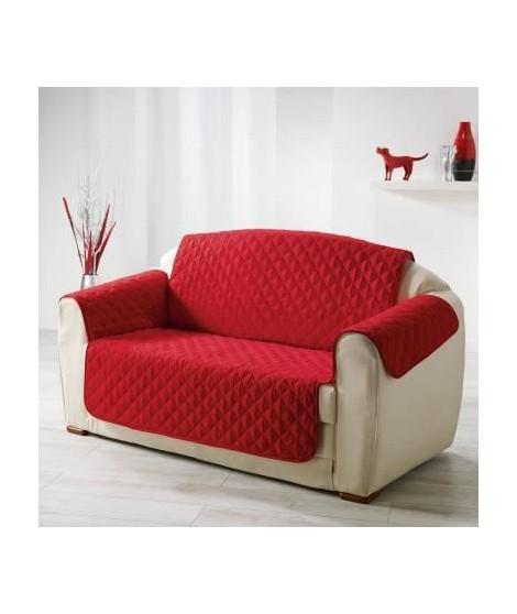 DOUCEUR d'INTERIEUR Protege canapé matelassé Club 223x179 cm rouge
