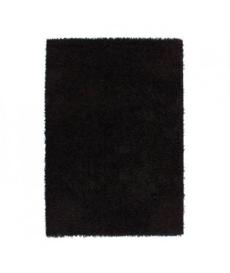Tapis de salon Shaggy TRENDY 30mm 120x160 cm Noir