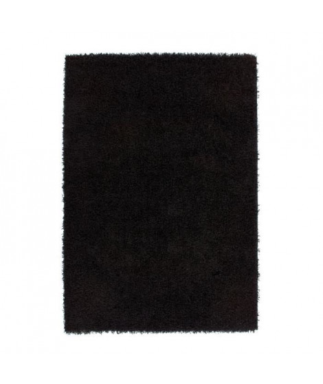 Tapis de salon Shaggy TRENDY 30mm 160x230 cm Noir