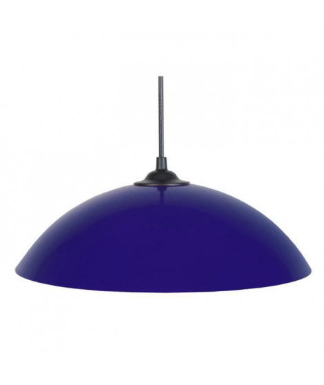 DEMI-LUNE Suspension 29,5cm métal bleu