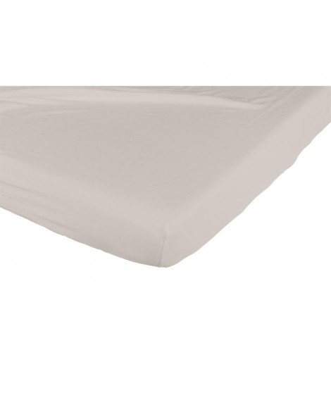 CANDIDE Drap Housse Jersey Coton 60*120 Taupe