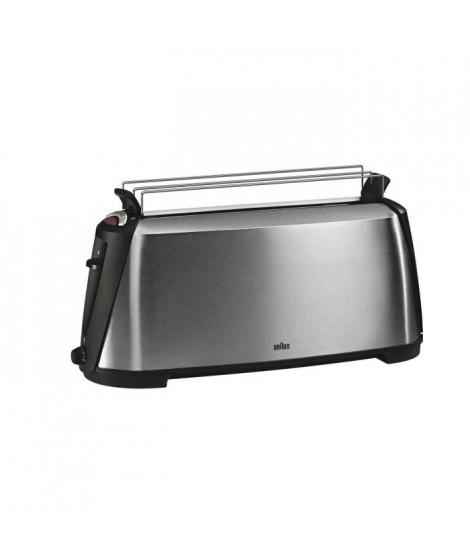 BRAUN HT600 Grille-pain + Réchauffe-viennoiseire - Inox - 1080W