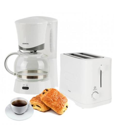 Pack rentrée Oceanic - Cafetiere 6 tasses + grille-pain 2 fentes