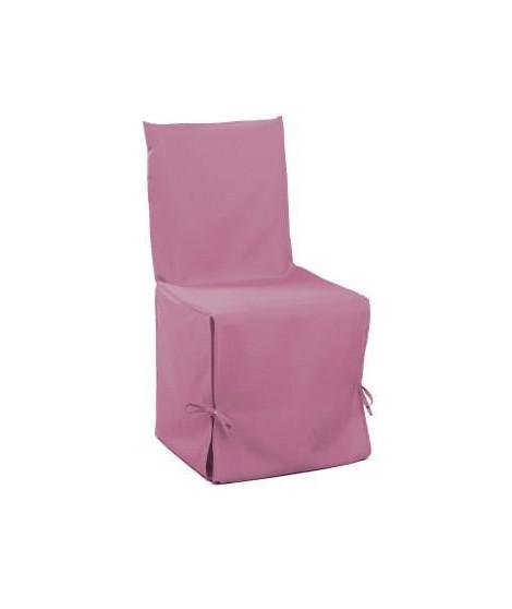 DOUCEUR d'INTERIEUR Housse de chaise unie a nouettes 50x50x50 cm Essentiel dragée