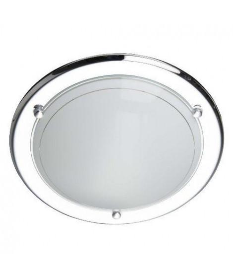 BRILLANT Applique/Plafonnier Miramar diametre 28,5 cm E27 42W chrome