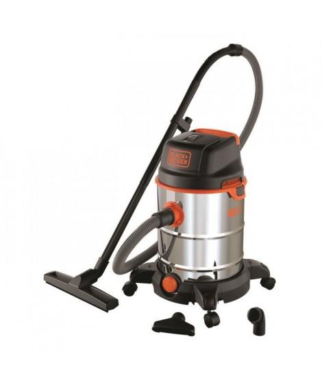 BLACK & DECKER Aspirateur eau et poussiere sur roues 1600 W cuve en inox 30 L
