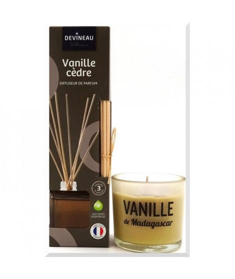 DEVINEAU Lot Diffuseur de parfum a froid 50ml Vanille Cedre et verre