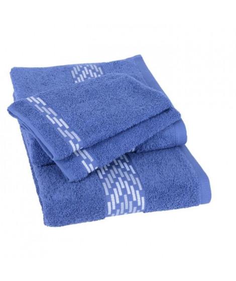 JULES CLARYSSE Lot de 1 drap 70x140 cm + 1 serviette 50x100 cm + 2 gants 15x21 cm Arrow marine