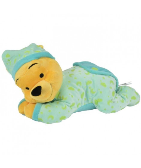 WINNIE L'OURSON Doudou 30 cm Allongé Vert
