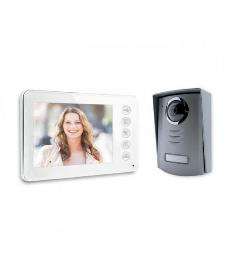 """Visiophone 4 fils écran couleur 4,3"""" ultra plat blanc"""