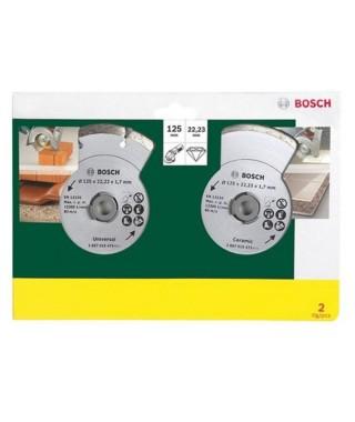 BOSCH 2 disques diamants 125mm matériaux