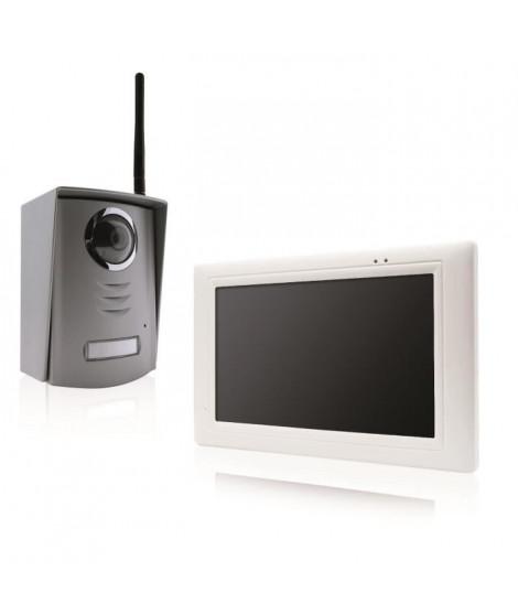 """AVIDSEN Visiophone sans fil écran 7"""" ultra-plat couleur a mémoire d'images avec antenne"""