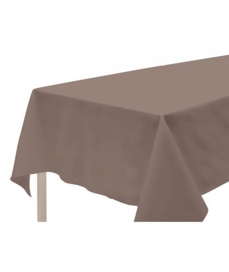 SOLEIL D'OCRE Nappe anti-tâches rectanglulaire 140x300cm ALIX Moka