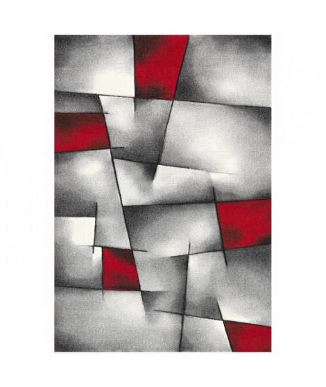 BRILLANCE Tapis de salon 160x230 cm rouge, gris et