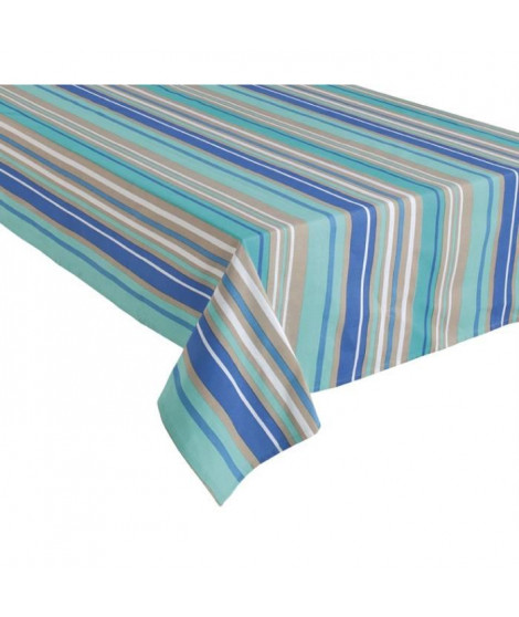 HOME STORIES Nappe en coton Cancun 150x250 cm bleu