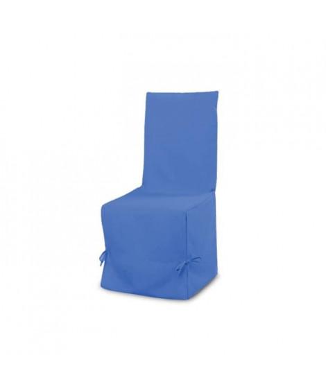 SOLEIL D'OCRE Housse de chaise en coton Panama - Bleu