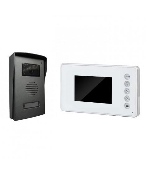 """CHACON Visiophone 4 fils écran couleur 3,5"""" ultra-plat blanc"""