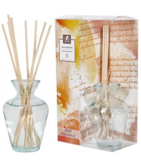 LE CHAT Diffuseur de parfum 90ml 8 tiges bambou parfum tulipe flamboyante
