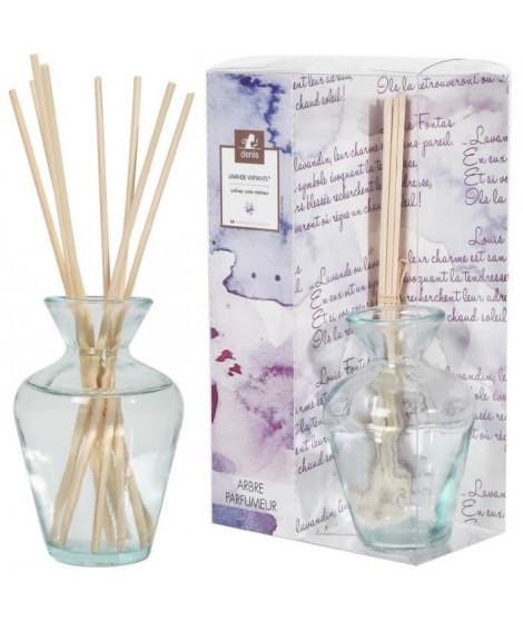 LE CHAT Diffuseur de parfum 90ml 8 tiges bambou parfum lavande vivifiante