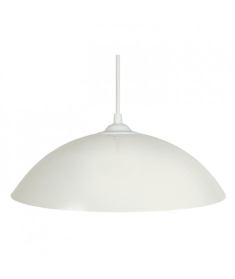 DEMI-LUNE Suspension 29,5cm métal blanc