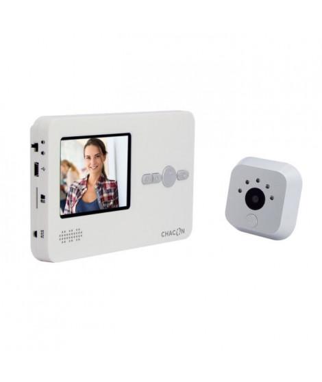 "CHACON Interphone vidéo avec judas digital avec écran LCD 2,8"" mains libres"