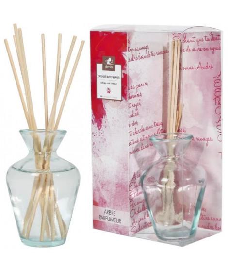 LE CHAT Diffuseur de parfum 90ml 8 tiges bambou parfum rose éclatante