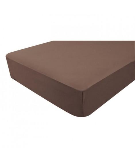 DOUX NID Drap-housse en jersey - Chocolat - 40x80 cm
