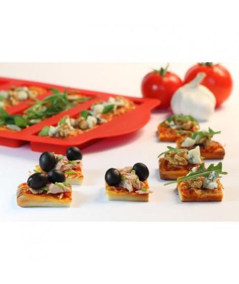 YOKO DESIGN Moule a Mini-Pizzas avec Emporte-Piece