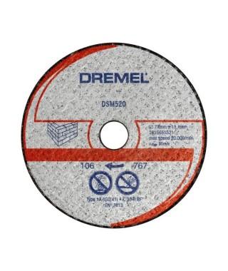 DREMEL 2 disques maçonnerie DSM520 pour DSM20