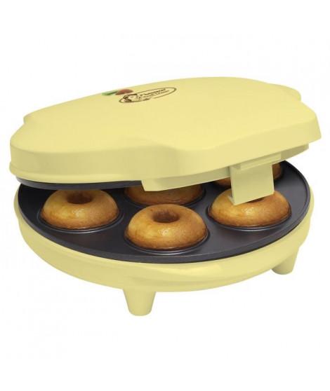BESTRON ADM218SD Appareil a donuts - Jusqu'a 7 en meme temps - Jaune Pastel